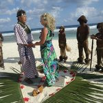 Tribal Tropical Samurai Wedding at Tamanu on the Beach