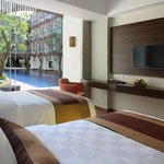 Twin Beds of Pool Access Room