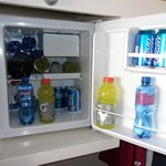 The smallest fridge I've ever seen. Gatorade and pepsi bottles dont fit!