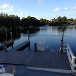 Dock on the lagoon at Kingsail Resort