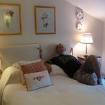 "Hubby chilling in ""Willow"" room"