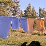 Sheets Drying in the Wyoming Sunshine