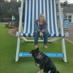 trying to find somewhere to go with my dog, only place to go was this big chair outside main rec