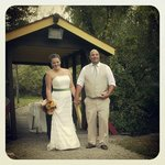 Our ceremony site was the covered bridge and barn