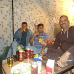 Enjoying with Friends in the Camp
