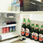 The mini fridge in Rama room