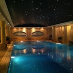 Pool with starry night sky & wall murals
