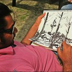 artist drawing nature!