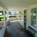 Front porch at Brookside Manor