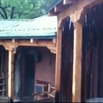 dousing rainfall makes terrific sounds on the roof at Canon Del Rio