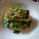 Fish with Thai sauce Risotto
