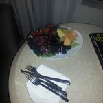 Fruit platter in the room.