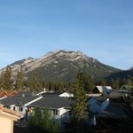 View from back patio. Mt. Norquay