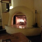 Lovely in-room fireplace