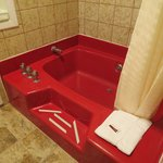 the big red tub in family suite