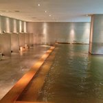 Spa with open shower area