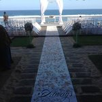 Wedding ceremony set up at villa OMG