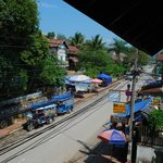 Right hand view is morning market (from balcony of room no 4)