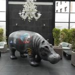 There's a hippo in the lobby!