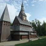 Fanous Stave Church in Village.