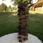 Giant Jenga in the gardens