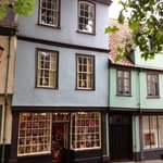 charming buildings on Elm Hill, Norwich england