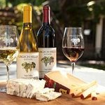 Chardonnay and Cabernet paired with cheese