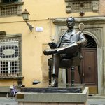 For opera lovers -  Puccini outside the our window, in front of his birthplace