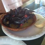 the mussels - with bread to dip in a great broth