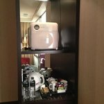 mini bar with microwave