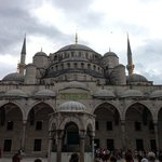 Blue Mosque on dull day