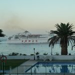 The morning car ferry arriving atLos Cristianos