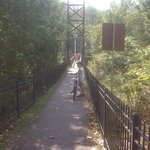 Walk your bike on suspension bridges