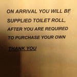 i have never known your toilet roll not to be replaced