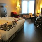 Two bed room at NH Mechelen.  LOVE the floors!