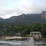 Stunning backdrop at Minang Cove