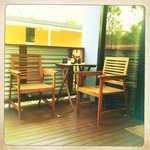 our little deck, perfect for afternoon drinks!