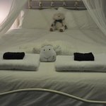 VERY sweet and comfortable room well decorated with fluffy toys