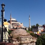 View of Hagia Sofia from rooftop terrace