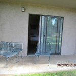 This is the patio of the room I had-this not the entry door and is accessed only from the rooom