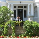 my daughter and I outside the Ryan Mansion