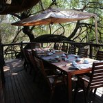 Lunch area at Madikwe River Lodge