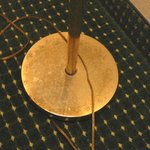 rust on floor lamp base