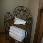 Linen shelf in the bathroom