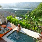 Private plunge pool with lagoon views