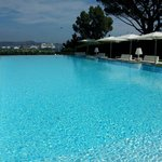 Famous swimming pool of The Kube Saint Tropez