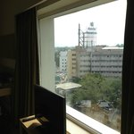 Decent view from hotel room at The Raintree Hotel in Chennai