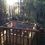 Gone Fishing Cabin deck