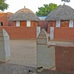The rooms are inside these huts.