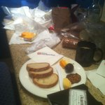 In our room with cheeses, fruits, breads from West Side Market